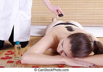woman at spa massage