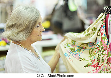 Woman at store