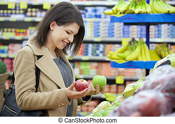 woman at supermarket