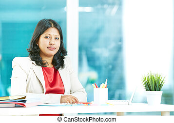 Woman at workplace