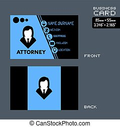 woman attorney visit card