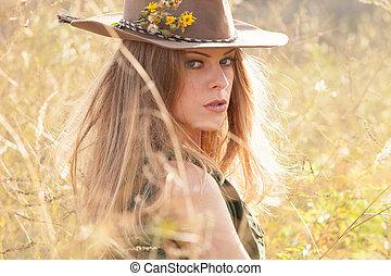 woman autumn portrait