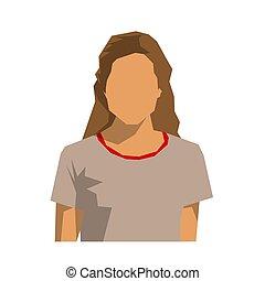 Woman avatar, isolated flat design vector illustration
