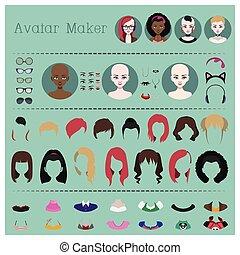 Woman avatar maker