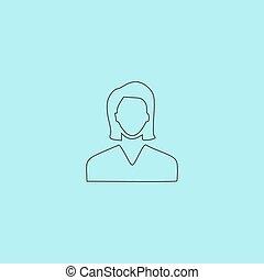 Woman avatar profile picture icon