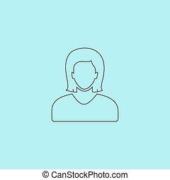 Woman avatar profile picture - vector