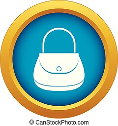 Woman bag icon blue vector isolated