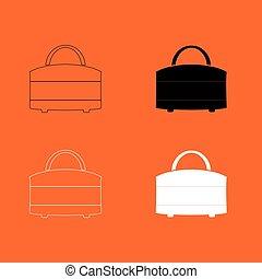 Woman bag icon .