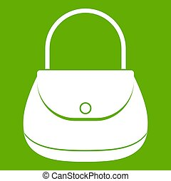 Woman bag icon green