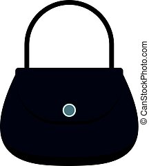 Woman bag icon isolated