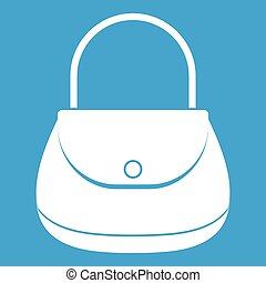 Woman bag icon white