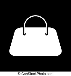 Woman bag it is icon .