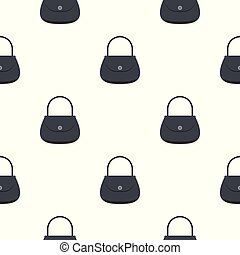Woman bag pattern seamless