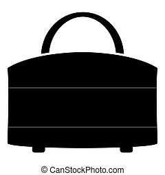 Woman bag the black color icon .