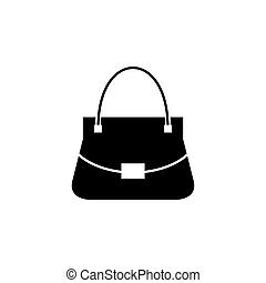 Woman bag vector icon