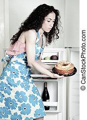 Woman Baking in Kitchen