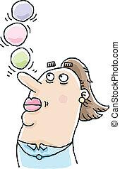 Woman Balancing Balls
