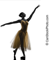 woman  ballerina ballet dancer dancing silhouette