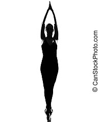 woman ballet dancer standing pose tiptoe