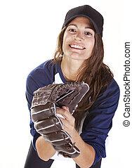 Woman Baseball or Softball Player C
