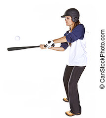 Woman Baseball or Softball Player H