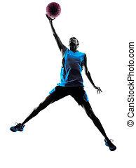 woman basketball player silhouette