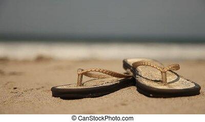 Woman (Beach - Flip-Flops) - Woman At Beach With Flip-Flops