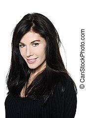 woman beautiful portrait studio smiling - woman beautiful ...