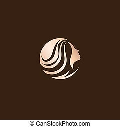 Woman Beauty Hair Salon Logo Design