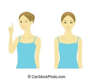 Woman beauty treatment