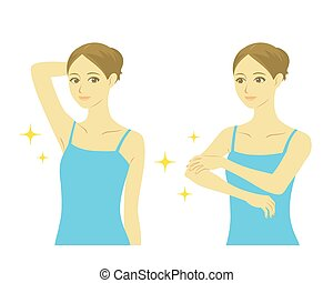 Woman beauty treatment, vector file