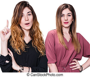 Woman before and after transformation