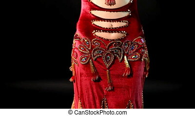 woman Belly dance - look and smile