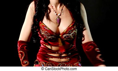 Woman - belly dance - shake breast