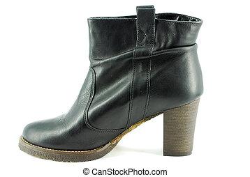woman black boot