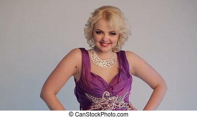 Woman Blonde Posing