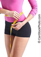 measured - Woman body is being measured
