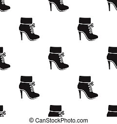 Woman boot icon of vector illustration for web and mobile