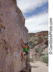 Woman Boulderer