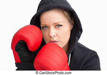 Woman boxing