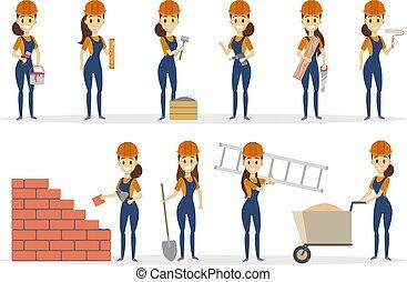 Woman builder set.