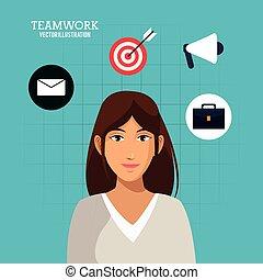 woman business success concept
