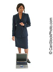 Woman Business Suit - Beautiful African American 33 year old...