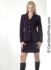 woman business suit - Pretty blond in business suit
