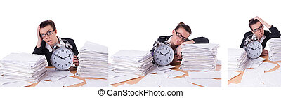 Woman businesswoman under stress missing her deadlines - The...