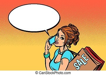 woman buyer talking on the phone