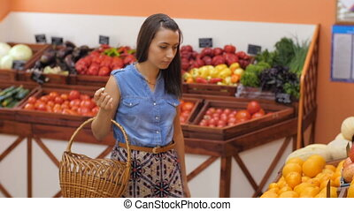 Woman Buying Fruits