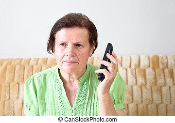 Woman calling phone