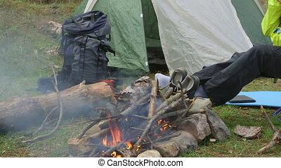 Woman Camping