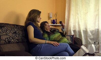 woman care grandmother